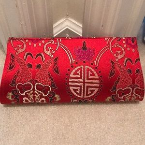 Handbags - Chinese red evening clutch